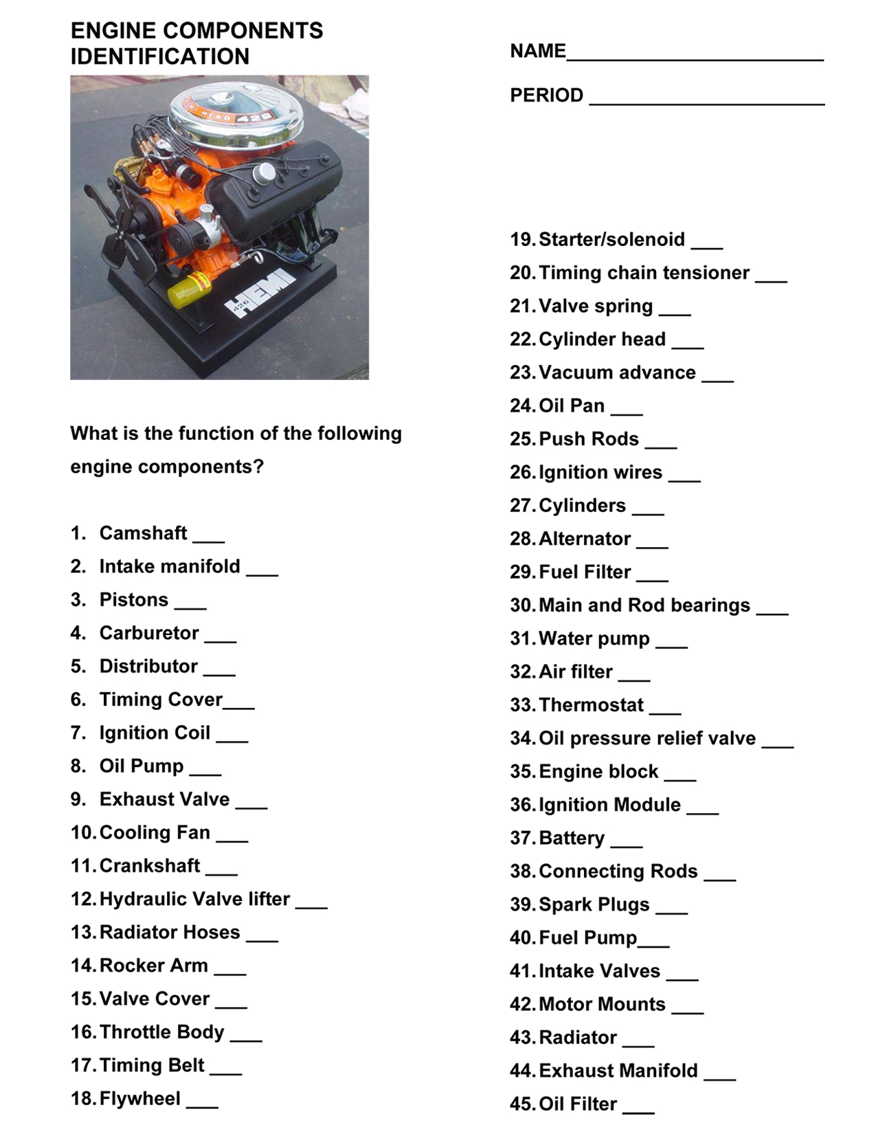 worksheet Auto Mechanic Worksheets detailed reports vehicle inspections certifications egr worksheet engine components indentification worksheet